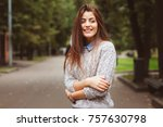 close up portrait of young...   Shutterstock . vector #757630798