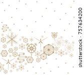 japanese pattern vector. gold... | Shutterstock .eps vector #757634200