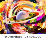 stained glass forever series.... | Shutterstock . vector #757641730