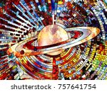 stained glass forever series.... | Shutterstock . vector #757641754