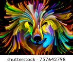 dog paint series. abstract... | Shutterstock . vector #757642798
