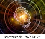 central design series. abstract ... | Shutterstock . vector #757643194