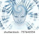3d rendering   mind field... | Shutterstock . vector #757643554