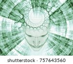 3d rendering   mind field... | Shutterstock . vector #757643560