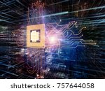 virtual space series. abstract... | Shutterstock . vector #757644058
