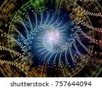 fractal swirl series.... | Shutterstock . vector #757644094