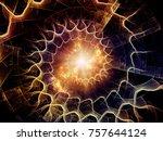 fractal swirl series.... | Shutterstock . vector #757644124