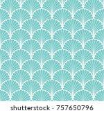 vector floral art nouveau...   Shutterstock .eps vector #757650796