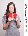 beautiful young asian woman...   Shutterstock . vector #757653460