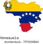 vector venezuela  map... | Shutterstock .eps vector #757654864