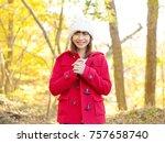 smiling asian woman   Shutterstock . vector #757658740