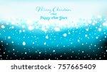 blue elegant christmas... | Shutterstock . vector #757665409