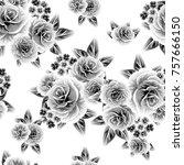 abstract elegance seamless... | Shutterstock .eps vector #757666150