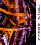 top view of atlanta  georgia at ...   Shutterstock . vector #757668070