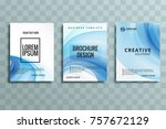 abstract business brochure set... | Shutterstock .eps vector #757672129