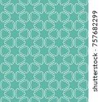 seamless geometric line pattern ... | Shutterstock .eps vector #757682299