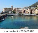 the marina of nervi | Shutterstock . vector #757685908