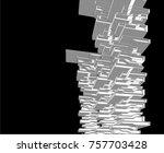 futuristic architecture vector  | Shutterstock .eps vector #757703428
