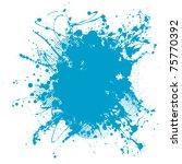 grunge ink splat background... | Shutterstock .eps vector #75770392