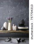 home decor   neutral colored... | Shutterstock . vector #757704313