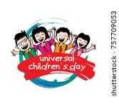 poster design for universal...   Shutterstock .eps vector #757709053