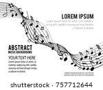 music notes on a solide white... | Shutterstock .eps vector #757712644