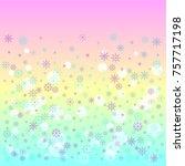 christmas snow splash... | Shutterstock .eps vector #757717198