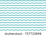 blue wave pattern | Shutterstock .eps vector #757725898