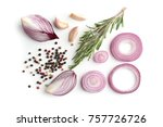 beautiful composition with red...   Shutterstock . vector #757726726