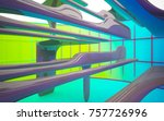 abstract dynamic interior with...   Shutterstock . vector #757726996