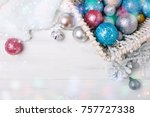 merry christmas and happy new... | Shutterstock . vector #757727338