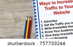 how to attract traffic to your... | Shutterstock . vector #757733266
