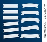 banners flat isolated. ribbons... | Shutterstock .eps vector #757736479