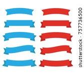 ribbons banners. decor vector... | Shutterstock .eps vector #757736500