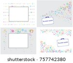 abstract background on a winter ... | Shutterstock .eps vector #757742380