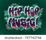 hip hop music illustration in...   Shutterstock .eps vector #757742746