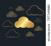abstract background for cloud... | Shutterstock .eps vector #757749880