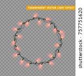 christmas lights effects. xmas... | Shutterstock .eps vector #757751620