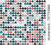 geometric pattern with colored... | Shutterstock .eps vector #757753888