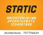 static vector decorative bold... | Shutterstock .eps vector #757756624