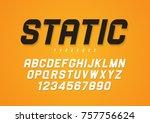 Static vector decorative bold italic font design, alphabet, typeface, typography. | Shutterstock vector #757756624