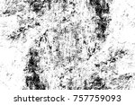 grunge black and white seamless ... | Shutterstock . vector #757759093
