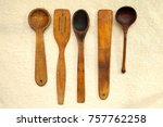 wooden tools for the kitchen... | Shutterstock . vector #757762258