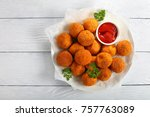 delicious potato croquettes  ... | Shutterstock . vector #757763089