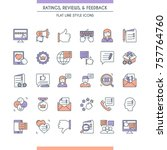feedbacks and ratings icon set. ... | Shutterstock .eps vector #757764760