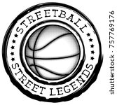 vector illustration basketball... | Shutterstock .eps vector #757769176