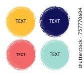 watercolor design elements.... | Shutterstock .eps vector #757770604