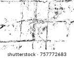 grunge black and white seamless ... | Shutterstock . vector #757772683