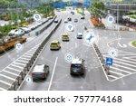 smart car   autonomous self... | Shutterstock . vector #757774168