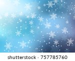 christmas background of... | Shutterstock .eps vector #757785760